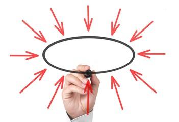 Ihre Botschaft im ovalen Kreis eintragen, fertig :-)