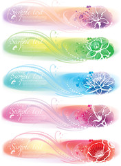 Set of horizontal colorful banners