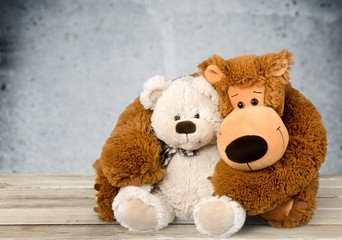 Teddy Bear. Teddy Bear Hug Isolated on White