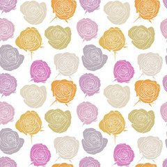 vector seamless pattern with roses