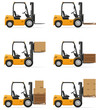 forklift truck vector illustration - 81932369