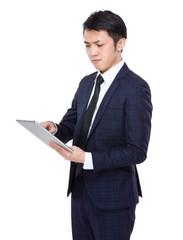 Businessman use of tablet