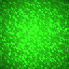 Abstract green bright triangles background