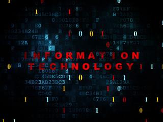 Data concept: Information Technology on Digital background