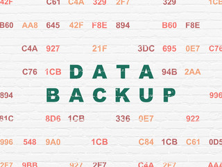 Data concept: Data Backup on wall background