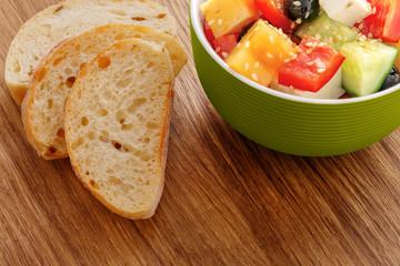 Bowl of fresh greek salad