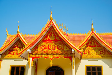 The temple in Laos.
