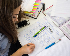 smartphone pendant les devoirs