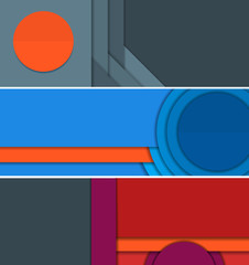 Banners illustration of unusual modern material design