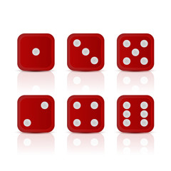 Dices for gameswith all the numbers.