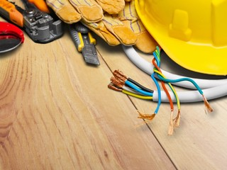 Electrician. Electrical tools