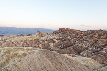 Zabriskie point death valley wonderfull sunrise