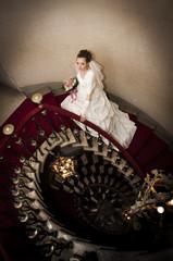 Salendo le scale della Torre del castello di Duino - Trieste