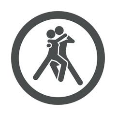 Icono redondo bailarines gris