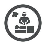 Icono redondo cirujano gris