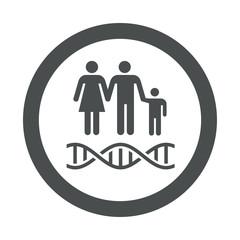 Icono redondo ADN gris
