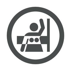 Icono redondo mamografia gris