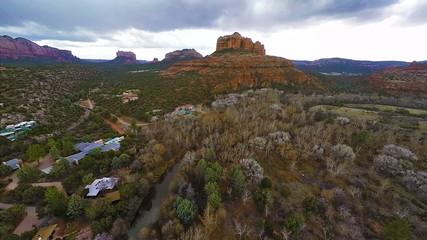 Flying over Red Rocks