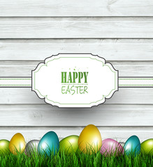 Wooden Easter Background