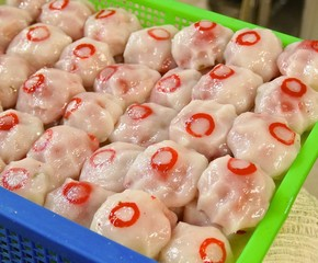 Hsinchu meatballs,the famous gourmet snacks in Taiwan.
