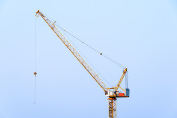 Crane on a building