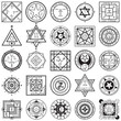 Set of Magic and Alchemy Sigils Vectors - 81938765