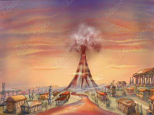 Pompeii. Eruption of Vesuvius. - 81939152