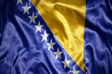 shining bosnia and herzegovina flag