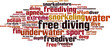 Free diving word cloud concept. Vector illustration - 81940108