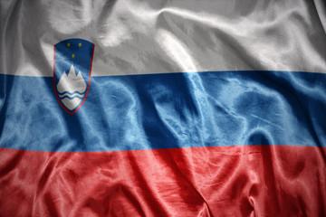 shining slovenian flag