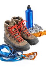 chaussure de randonnée et équipement de montagne