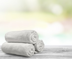 Towel. Rolled up Bath Towels
