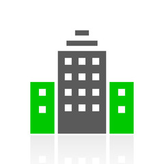 Color Office Building icon