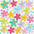 Colorful flowers pattern background vector