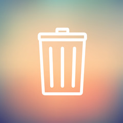 Trash Can thin line icon