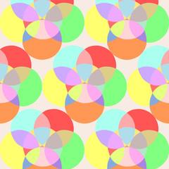 Muster aus bunten Kreisen im quadratischen Format