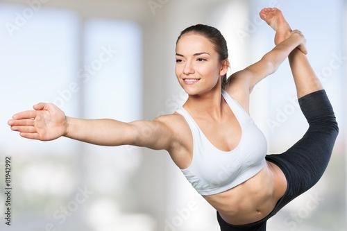 Poster Yoga. Expert yoga pose