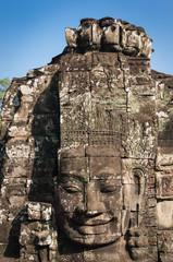 A bayon face at Angkor, Siem Reap, Cambodia.