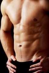 Sexy muscular macho man.