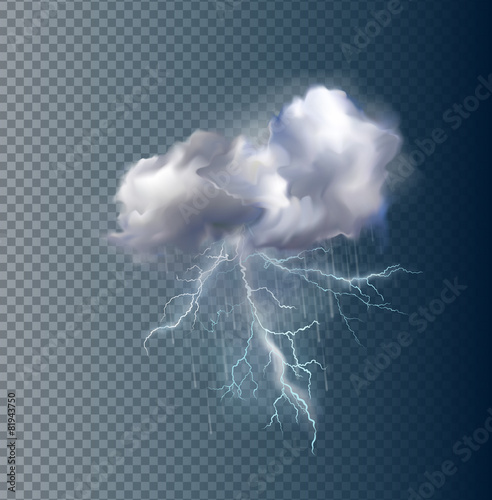 Vector cloud and lightnings - 81943750