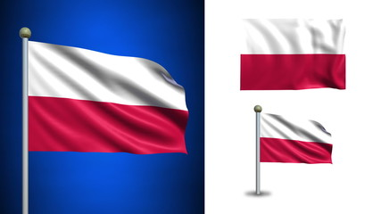 Poland flag - with Alpha channel, seamless loop!