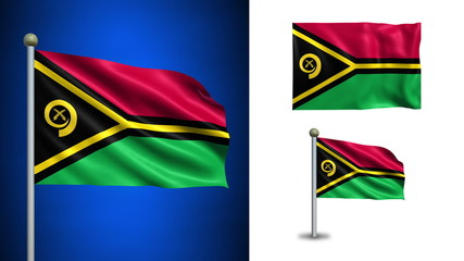 Vanatu flag - with Alpha channel, seamless loop!