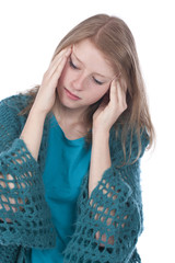 Mädchen mit Kopfschmerzen