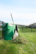 Leinwanddruck Bild - Yard maintenance in spring
