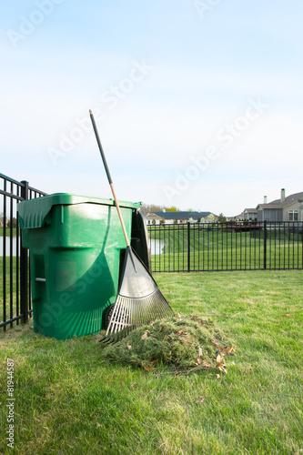 Leinwandbild Motiv Yard maintenance in spring