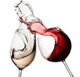 Red and white wine up - 81944958