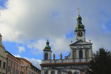 Town hall building. Ceske Budejovice, Czech Republic