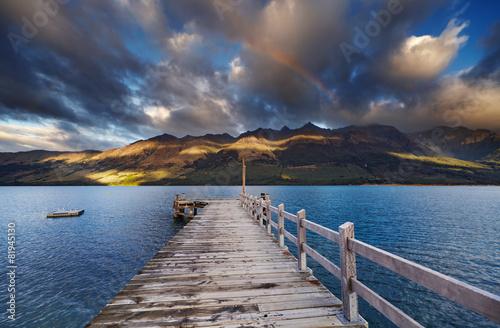 Canvas Nieuw Zeeland Wakatipu Lake, New Zealand