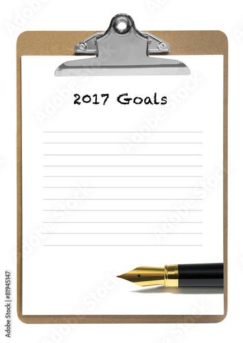 Poster 2017 goals list
