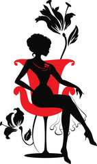 Doodle graphic silhouette of a woman. Isabelle series